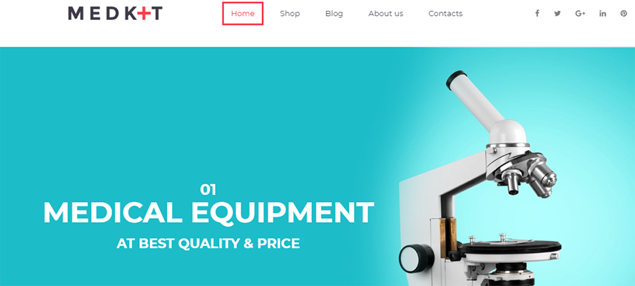 Medkit Ecommerce Website Template