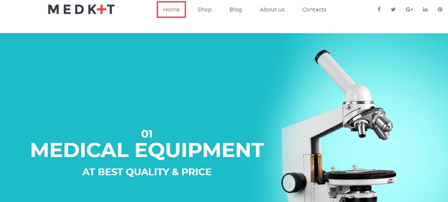 Medkit Ecommerce Website Template