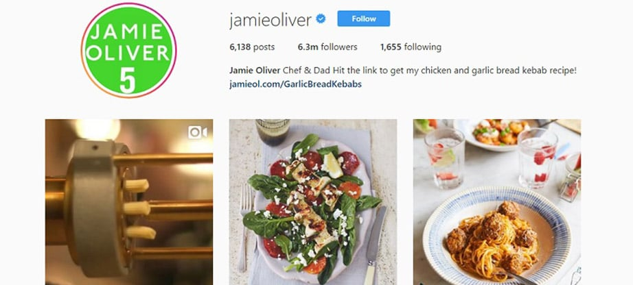 Jamie Oliver Instagram Account