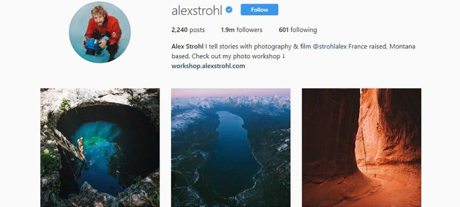 Alex Strohl Instagram Account