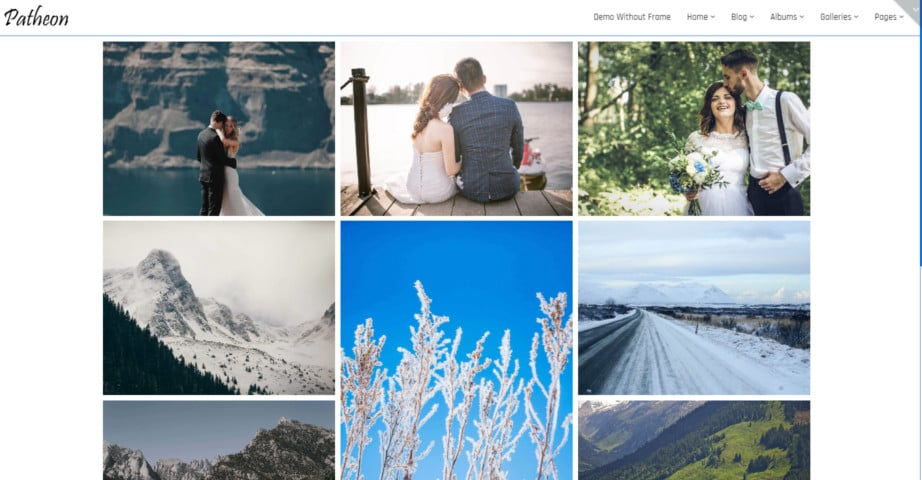 Patheon - Photography WordPress Theme