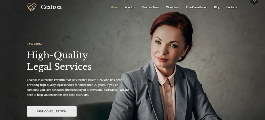 lawyer website builder and hosting