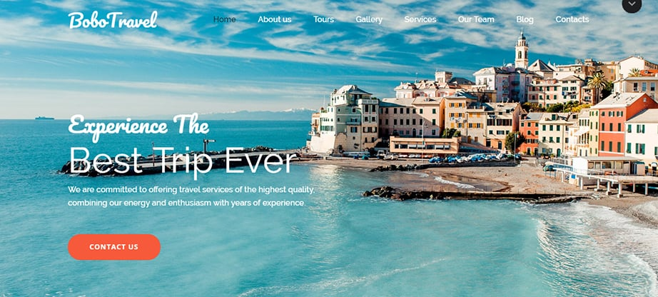travel agency website builder and hosting