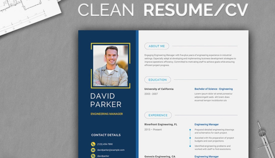 CV templates resume design image