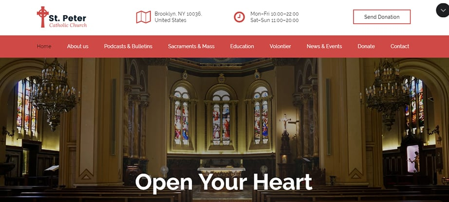 religious website builder and hosting