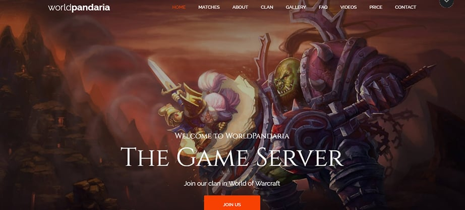 gaming website builder and hosting