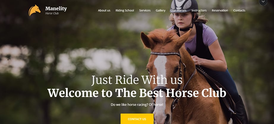 horse breeder website builder and hosting