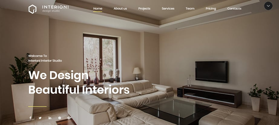 interior design website builder and hosting