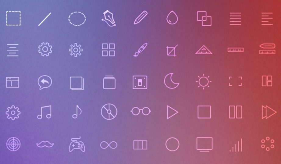 Icons in all formats web design bundle image