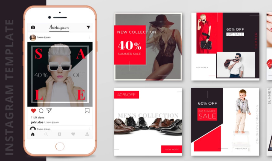 Instagram template PSD designs visual design image