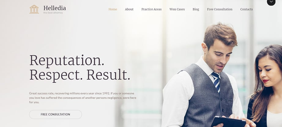 attorney website builder and hosting