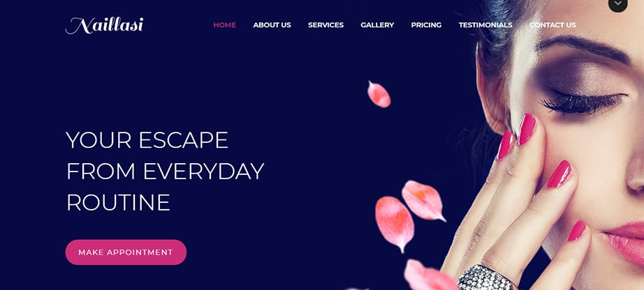 beauty salon website builder and hosting