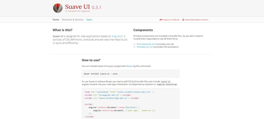 Suave UI javascript framework illustration