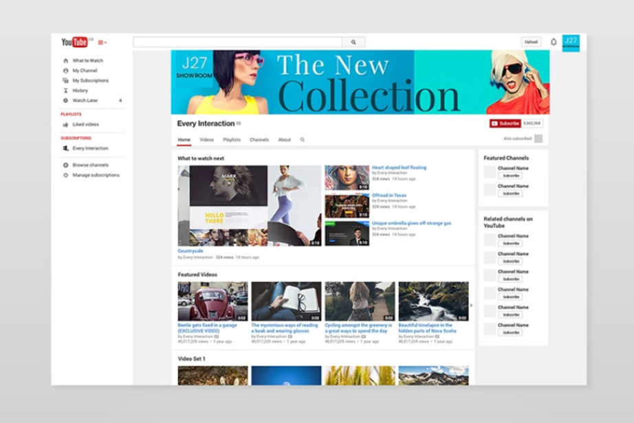 YouTube Cover Templates visual design bundle image