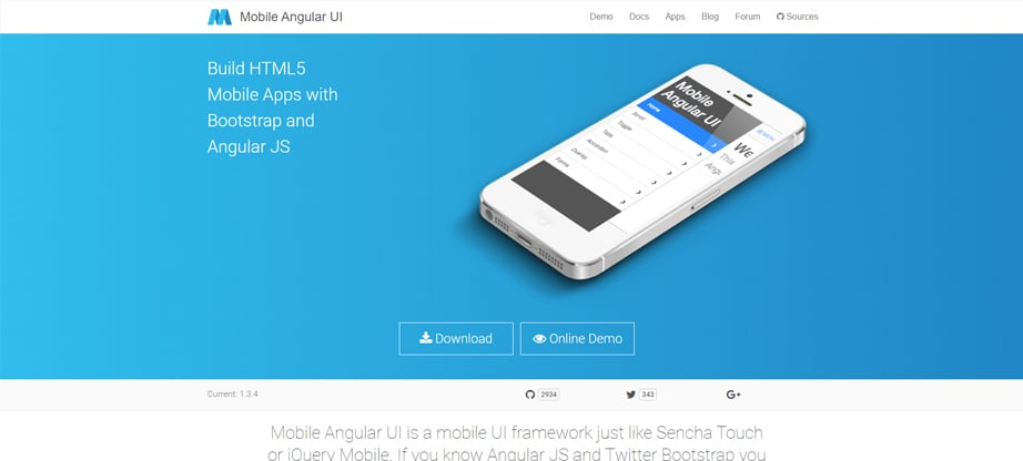 mobile angular ui javascript frameworks