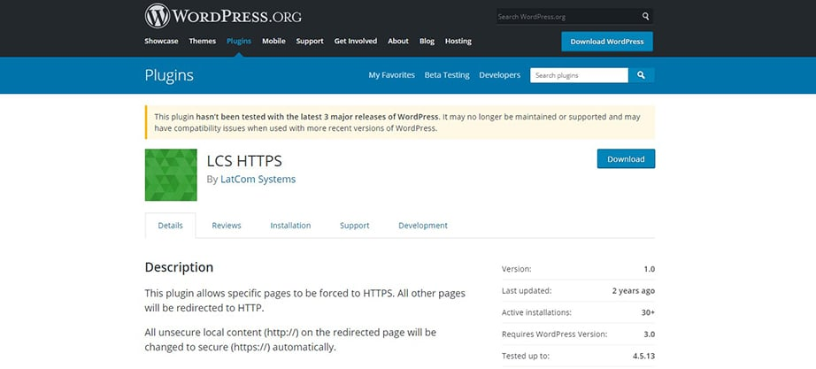 lcs https wordpress ssl plugin image