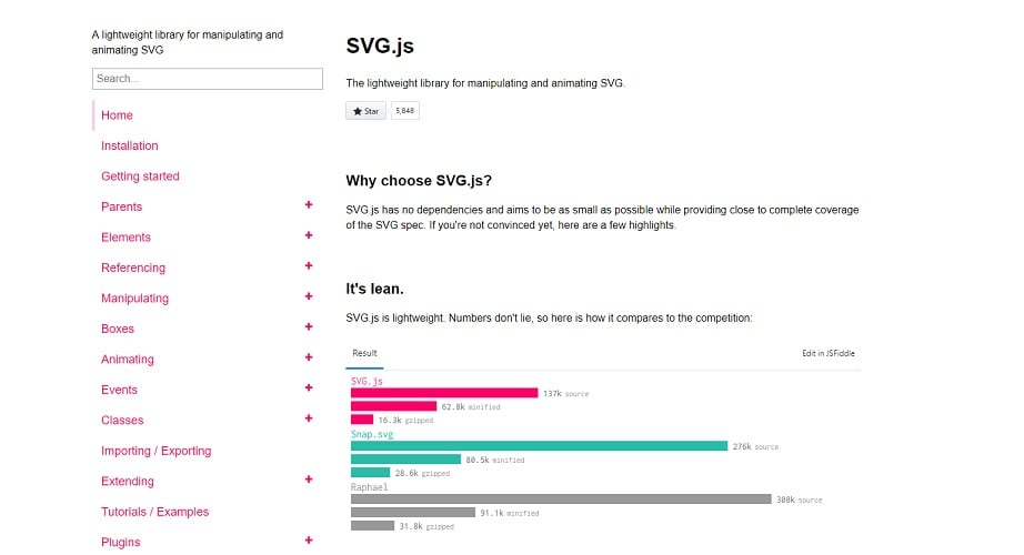 svg js animation tool illustration