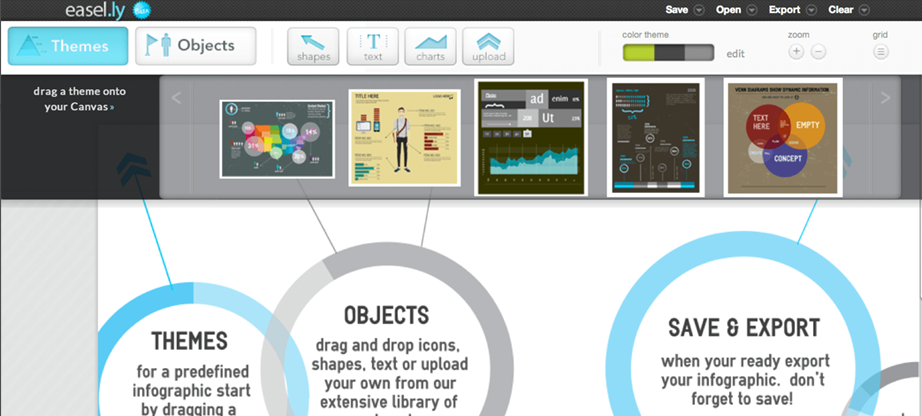 infographic templates by Easel