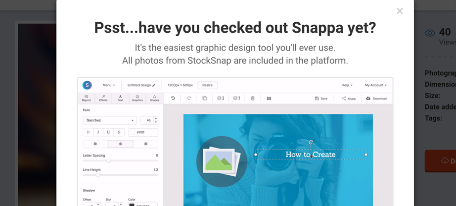 Snappa infographic templates editor
