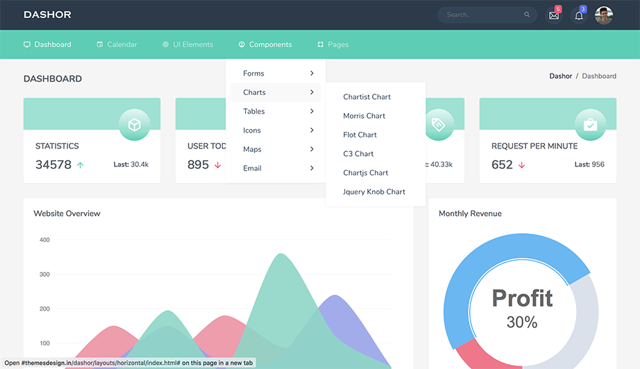 dashor admin template preview