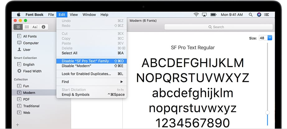 how to install fonts on mac editing process