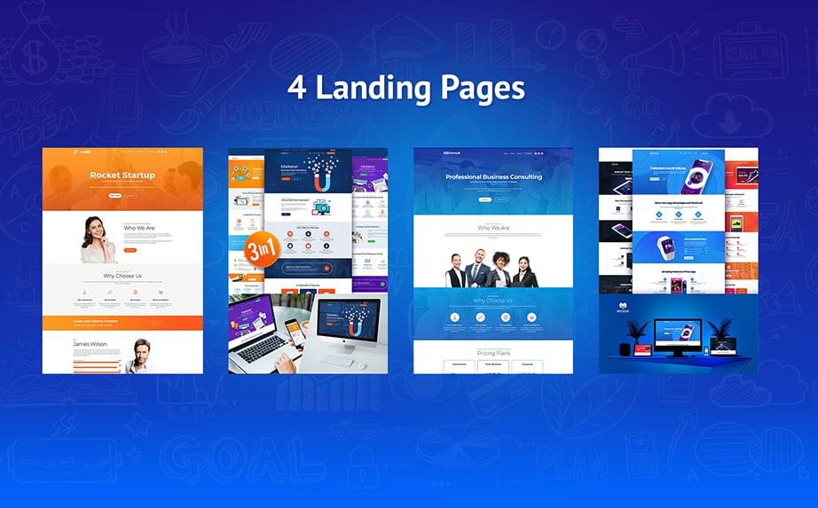 wordpress landing page theme bundle