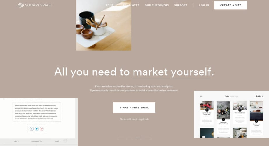 Squarespace - website builder like wix