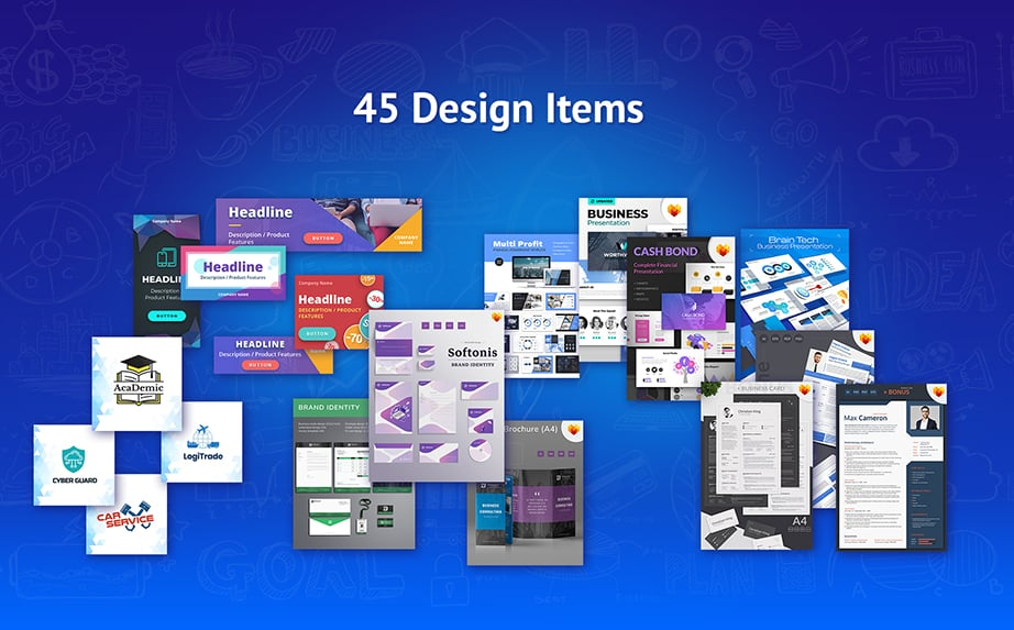 wordpress startup bundle design items