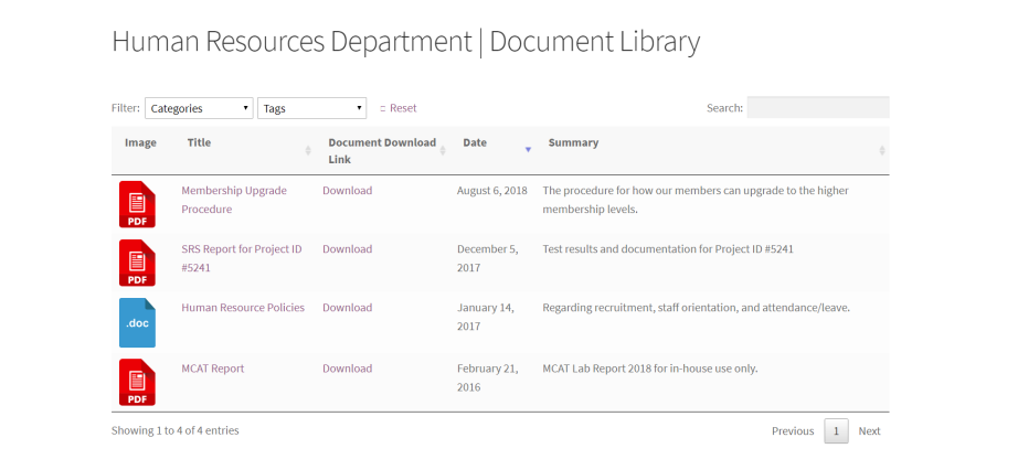 hr document library