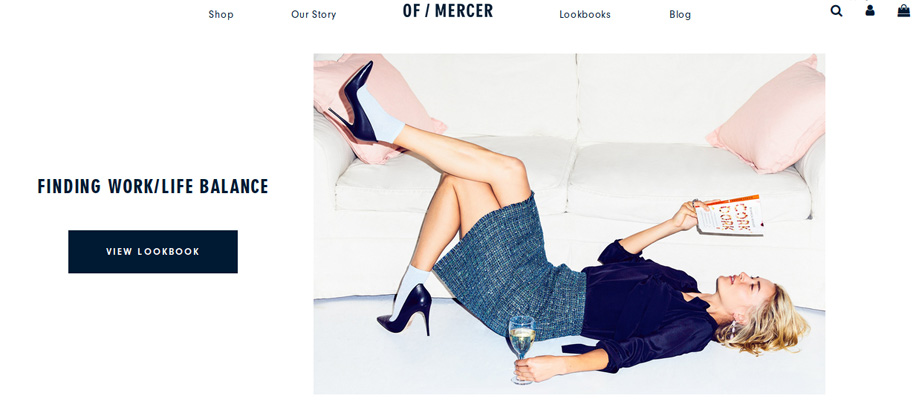 of mercer fashion lookbook