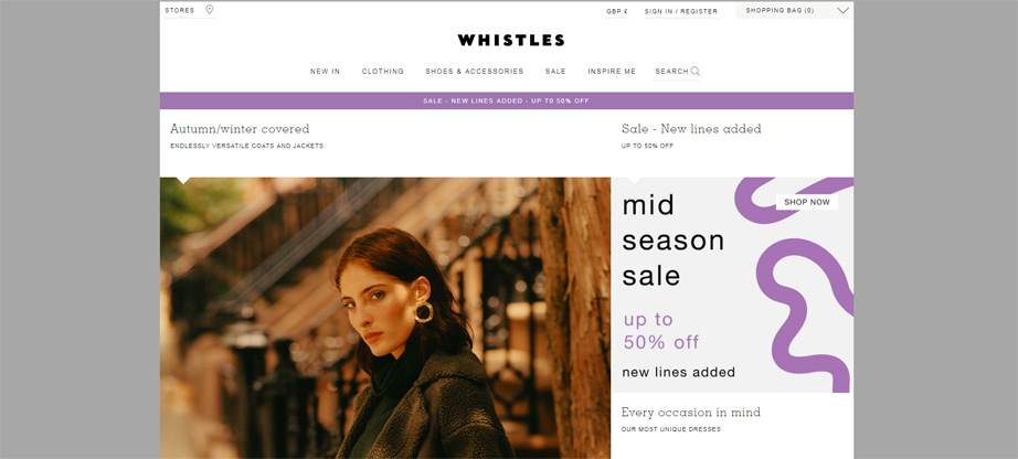 whistles online lookbook shop