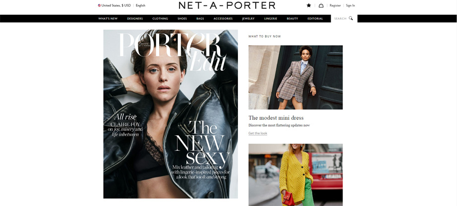 net-a-porter fashion website