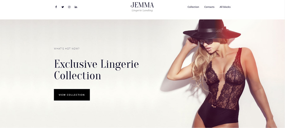 lingerie fashion website template motocms jemma