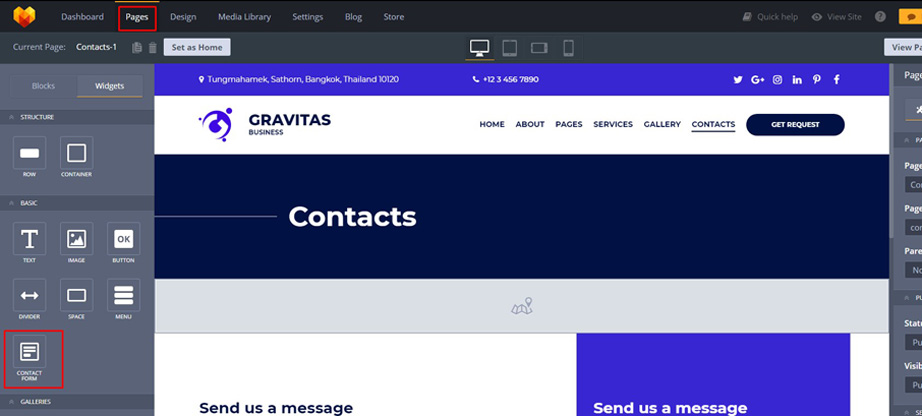 advanced contact form gravitas