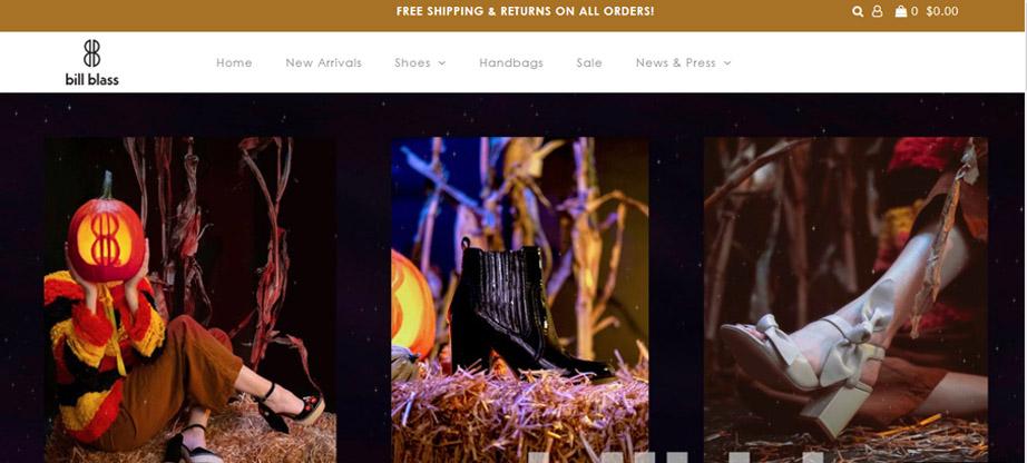 Bill Blass fashion website