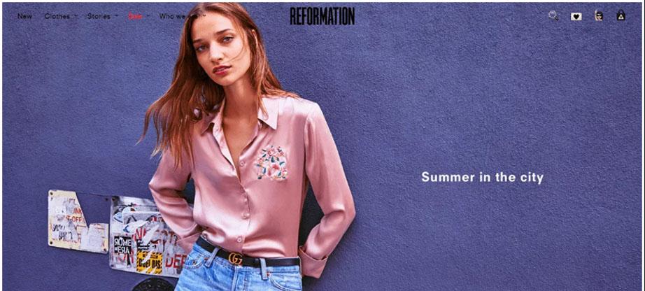 Reformation fashion website