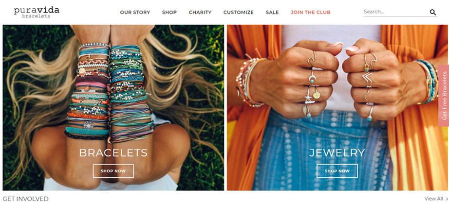 Pura Vida fashion website