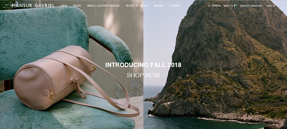 Mansur Gavriel fashion website