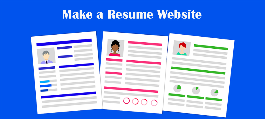 make a resume website