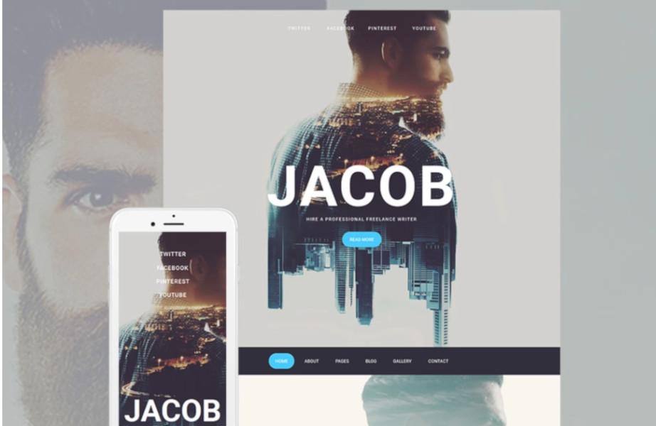 moto cms website template jacob