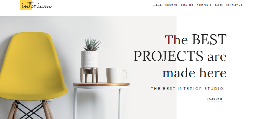 Interium wordpress theme
