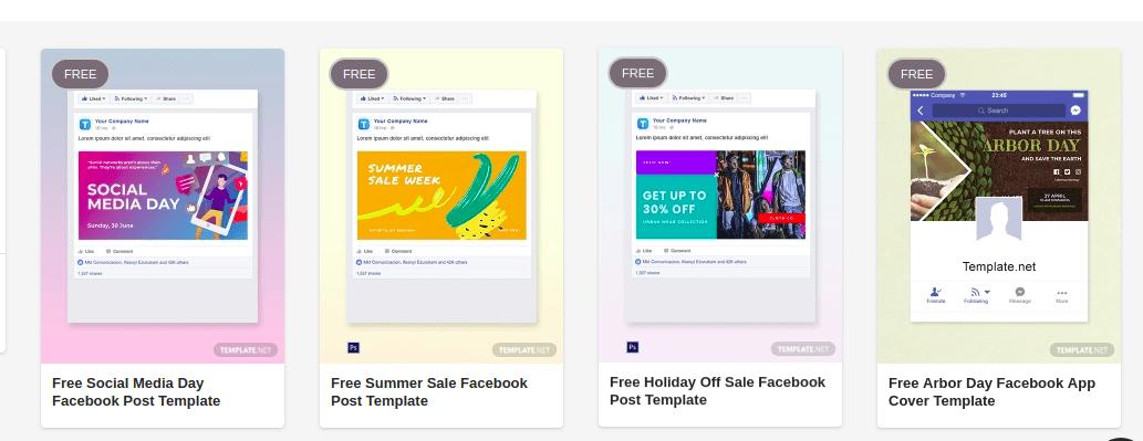 Free Facebook Templates