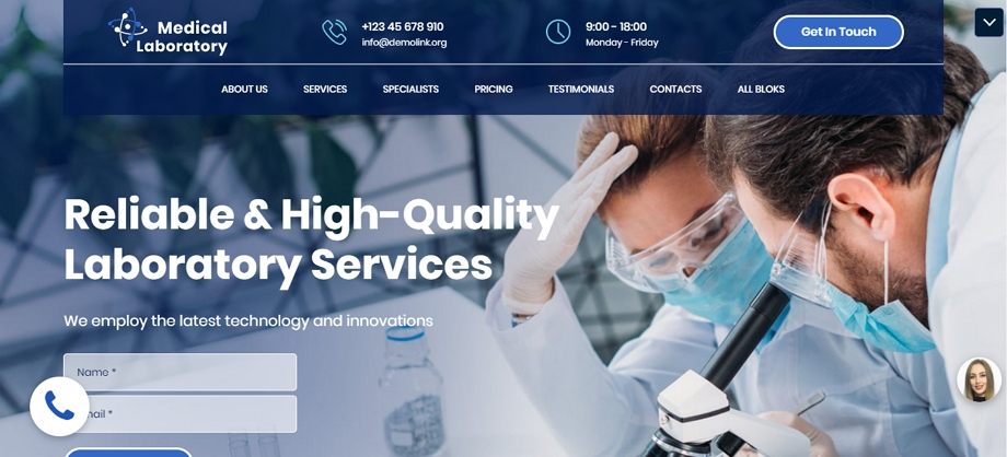 Medical-Laboratory-Motocms-Template