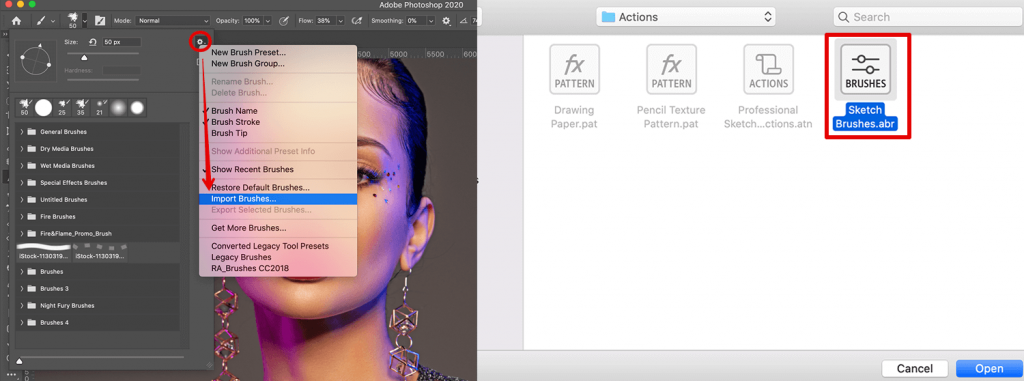 how-to-turn-photo-into-sketch-in-photoshop-add-brushes