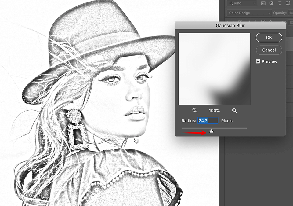 how-to-turn-photo-into-sketch-in-photoshop-blurring