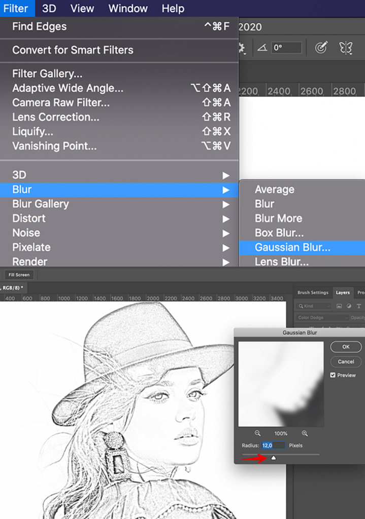 how-to-turn-photo-into-sketch-in-photoshop-use-blur
