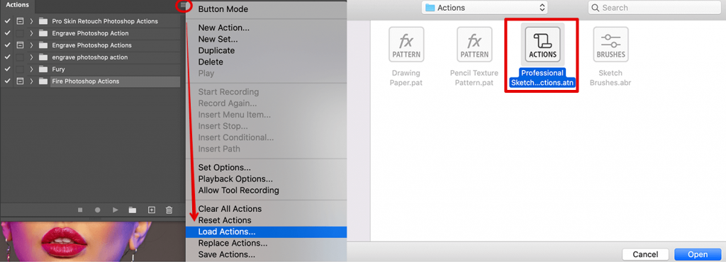 turn-photo-into-sketch-add-actions