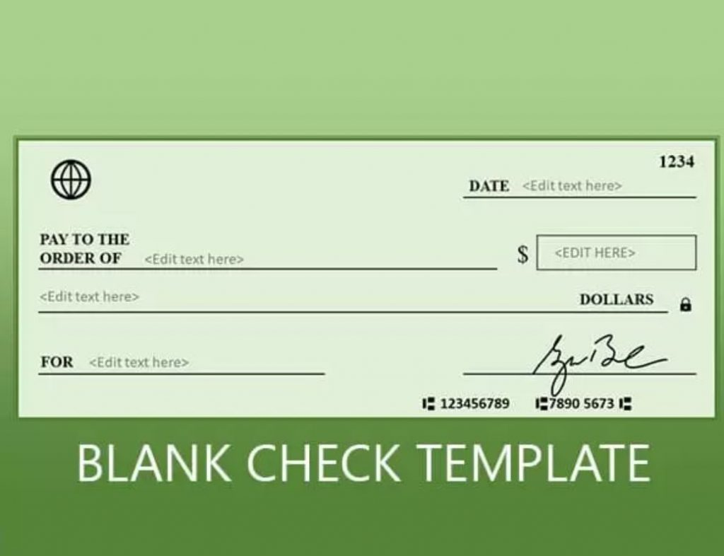 custom check design