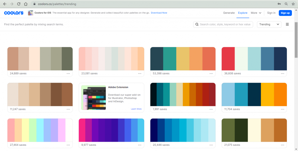 coolors - Color Tools For Web Designers